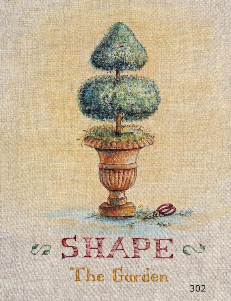 Gardening Series on Linen Shape the Garden