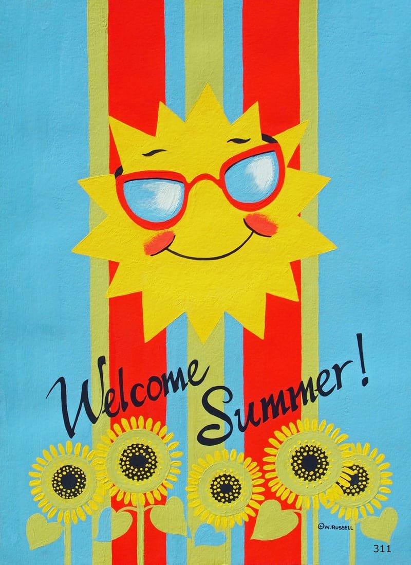 Welcome Summer Sun Vertical