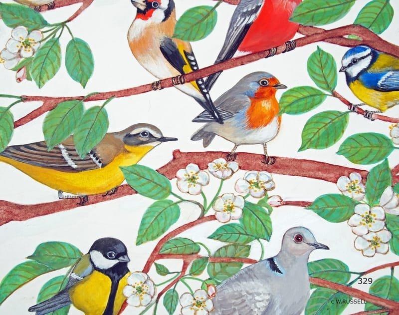 British Garden Birds Detail 1