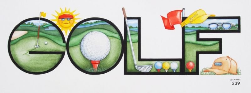 GOLF Decorative Lettering Sign
