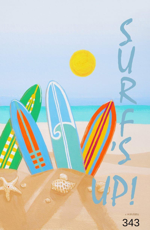 Surf's Up Surfboards for Vertical Flag