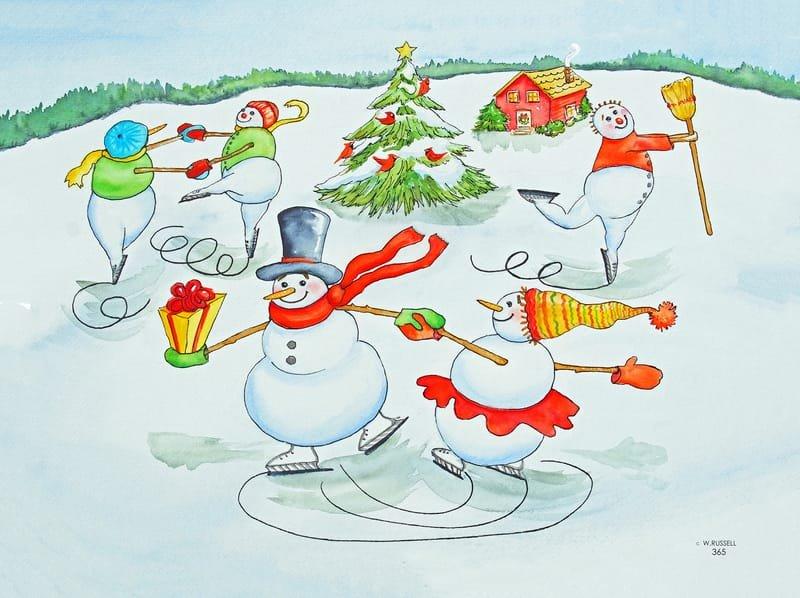 Snow People Skaters Waltz