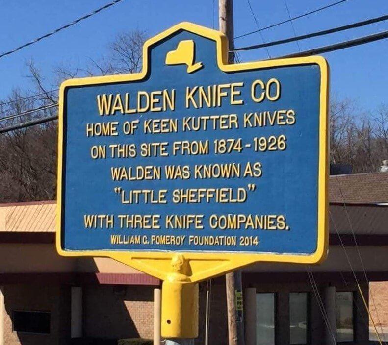 Historic Marker WALDEN KNIFE CO