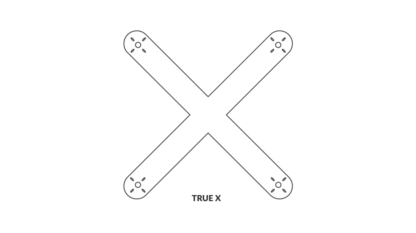 FPV Frame with True X Configuration