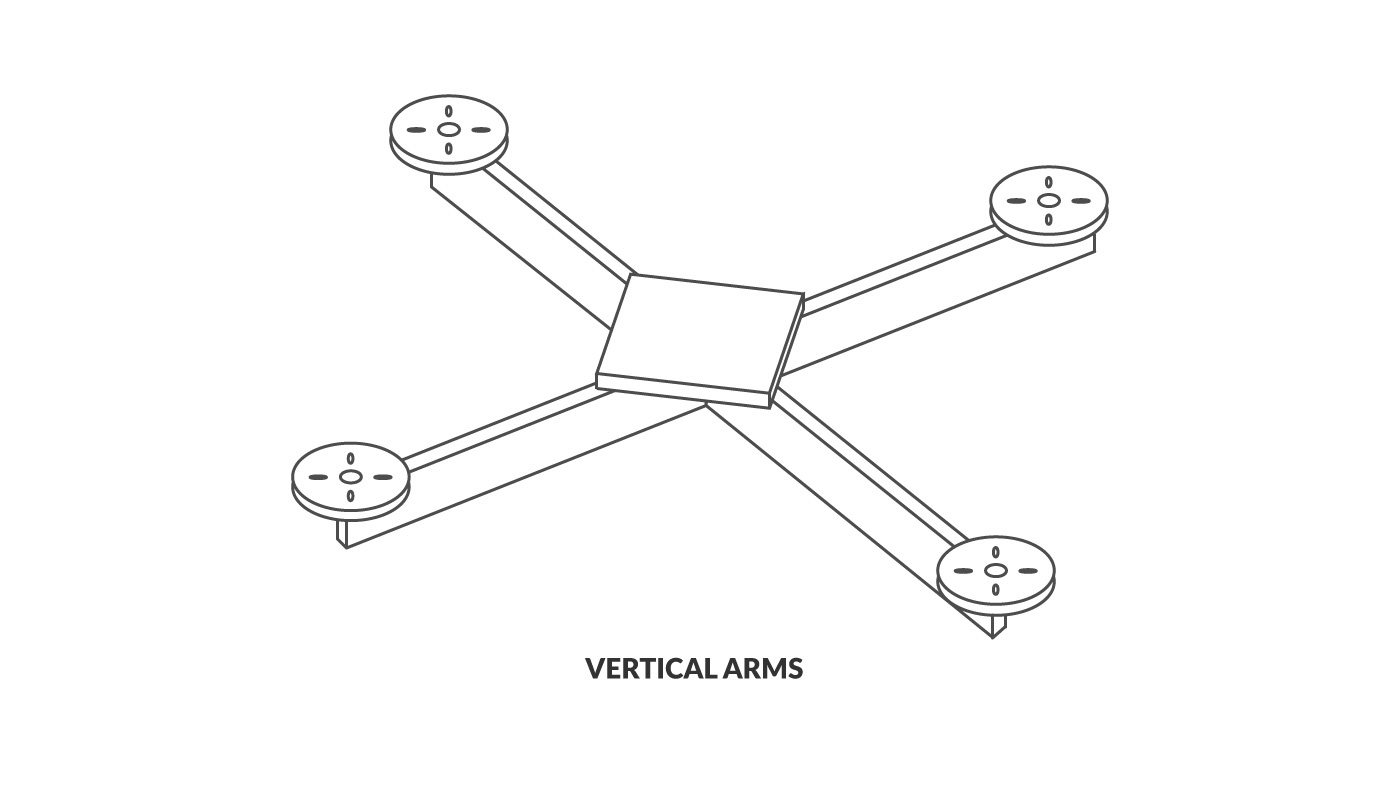 FPV Frame with Vertical arms