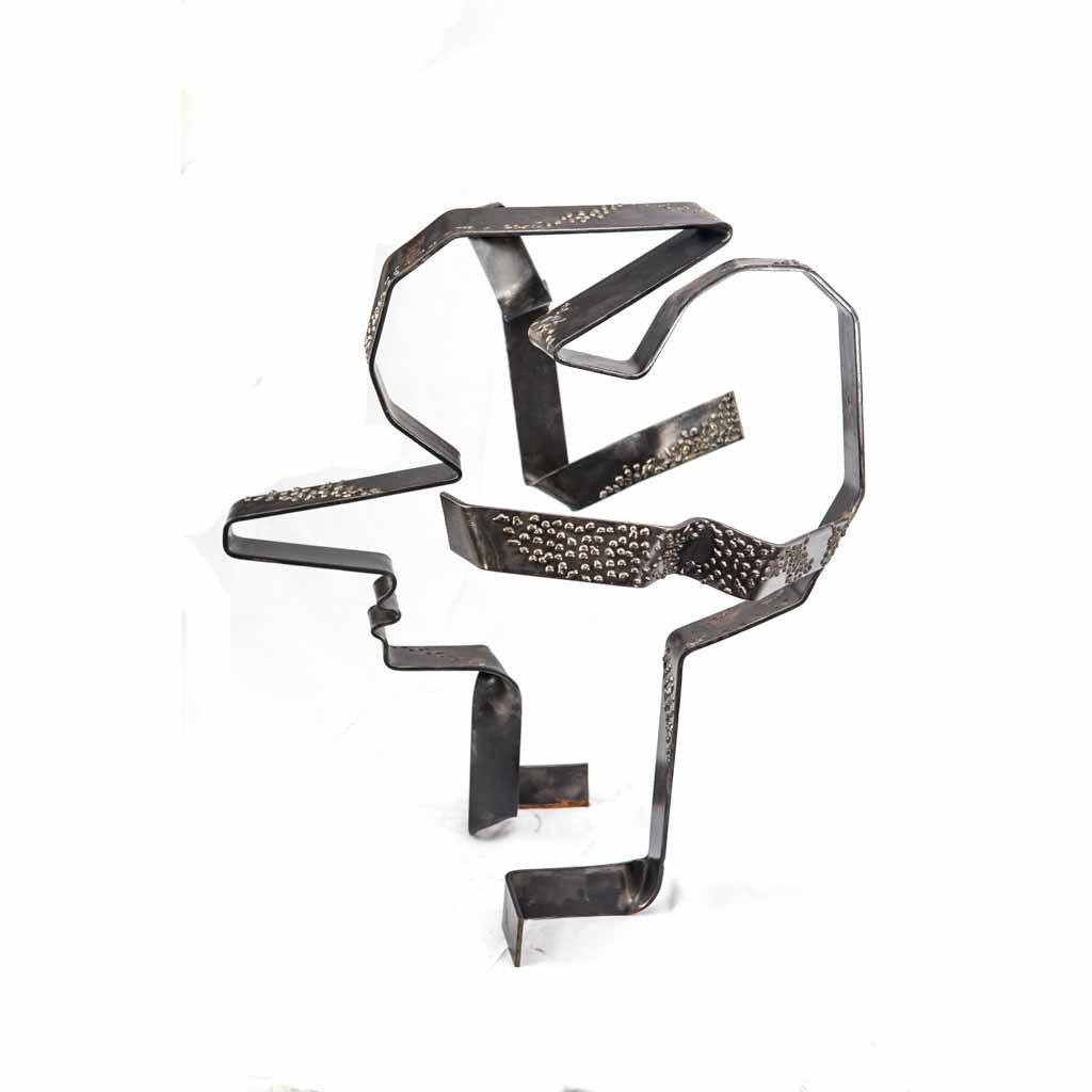 Authentic copy V | 2017 | Iron sculpture | 82x70x60cm | Rami Ater