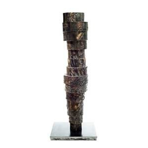 Rami Ater, Sculptor, 'Pillars' series, Iron and brass sculptures
