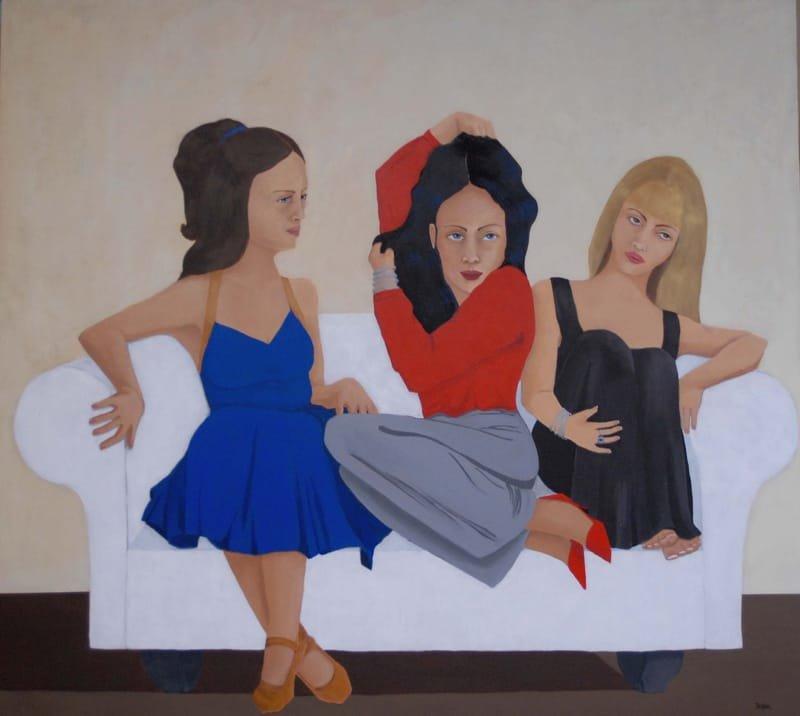 3 filles pour un sofa