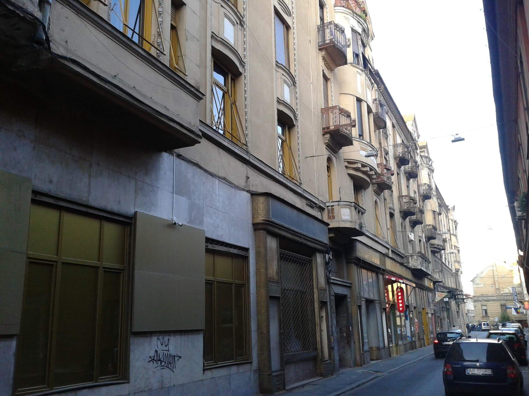 Fatada Palatui Bohus dinspre strada Vasile Goldis