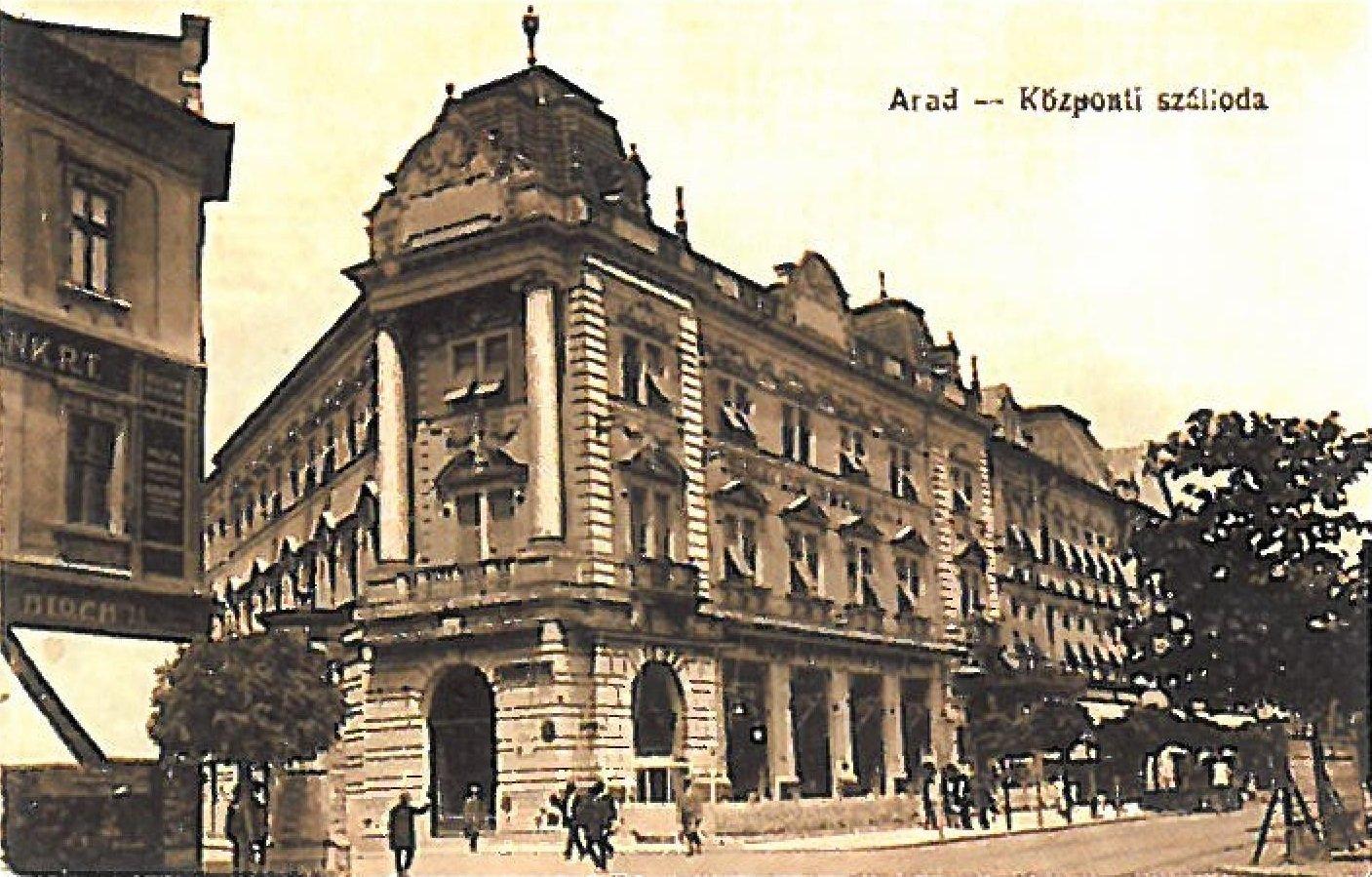 Aradi Kozponti szalloda 1900