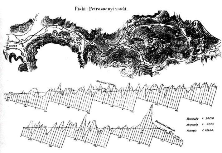 harta linie simeria-petrosani