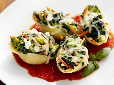 Veggie stuffed Jumbo shells
