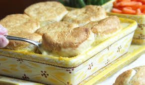 Creamy Chicken and Biscuit Casserole