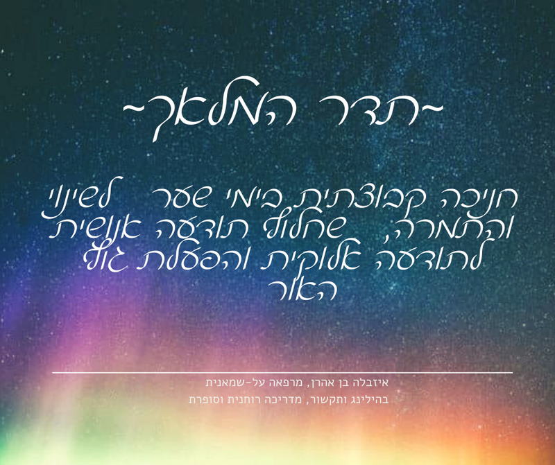 """תדר המלאך - תכנית חניכה קבוצתית בימי שער אנרגטי תשפ""""א"""
