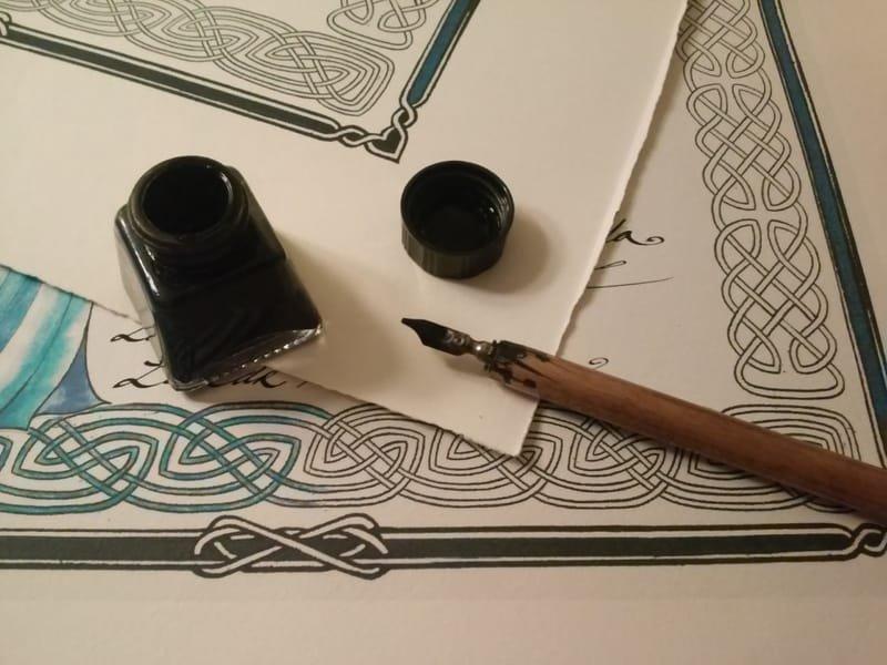 Example of calligraphic work