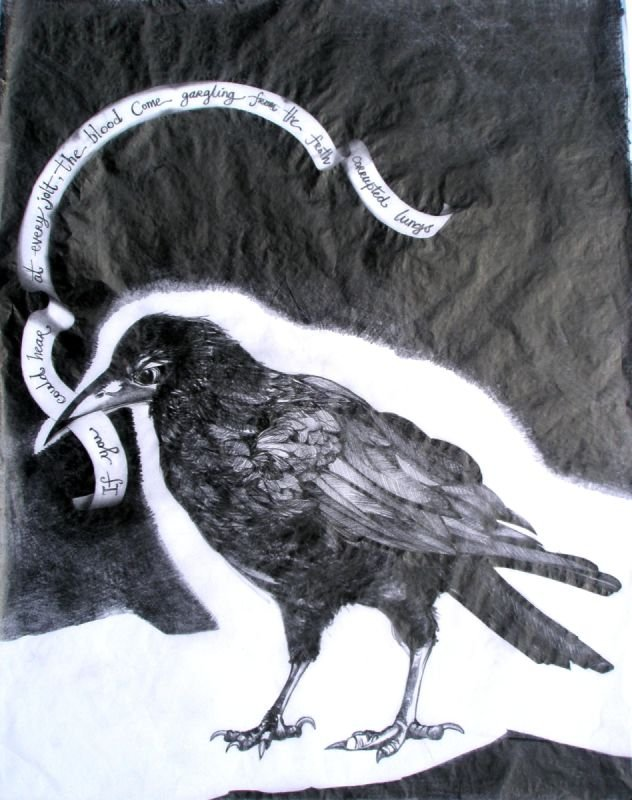 Pencil on Tissue paper, exhibited in solo show in Stormont