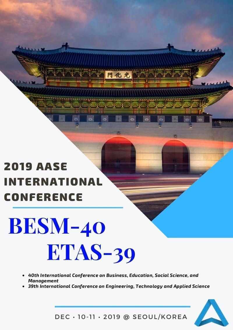 Proceedings of AASE International Conference: BESM-40 & ETAS-39