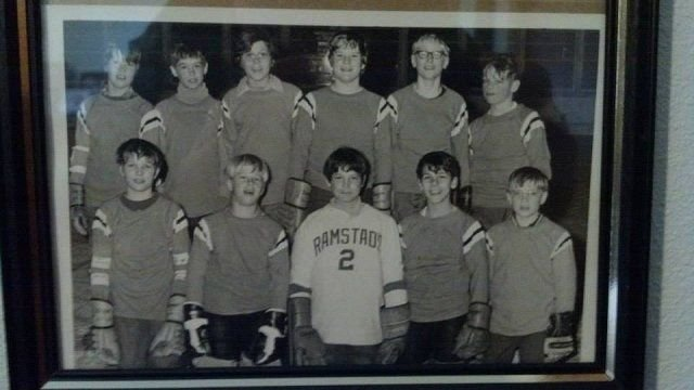 Rod the young hockey player, top row second from the right.